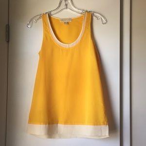 Michale Kors yellow tunic sleeveless blouse